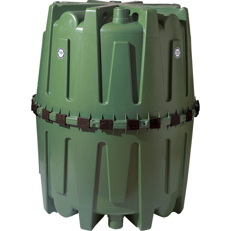 Cuve de r cup ration d 39 eau de pluie et maintien hercule vert 1600 l garan - Recuperateur d eau a enterrer ...