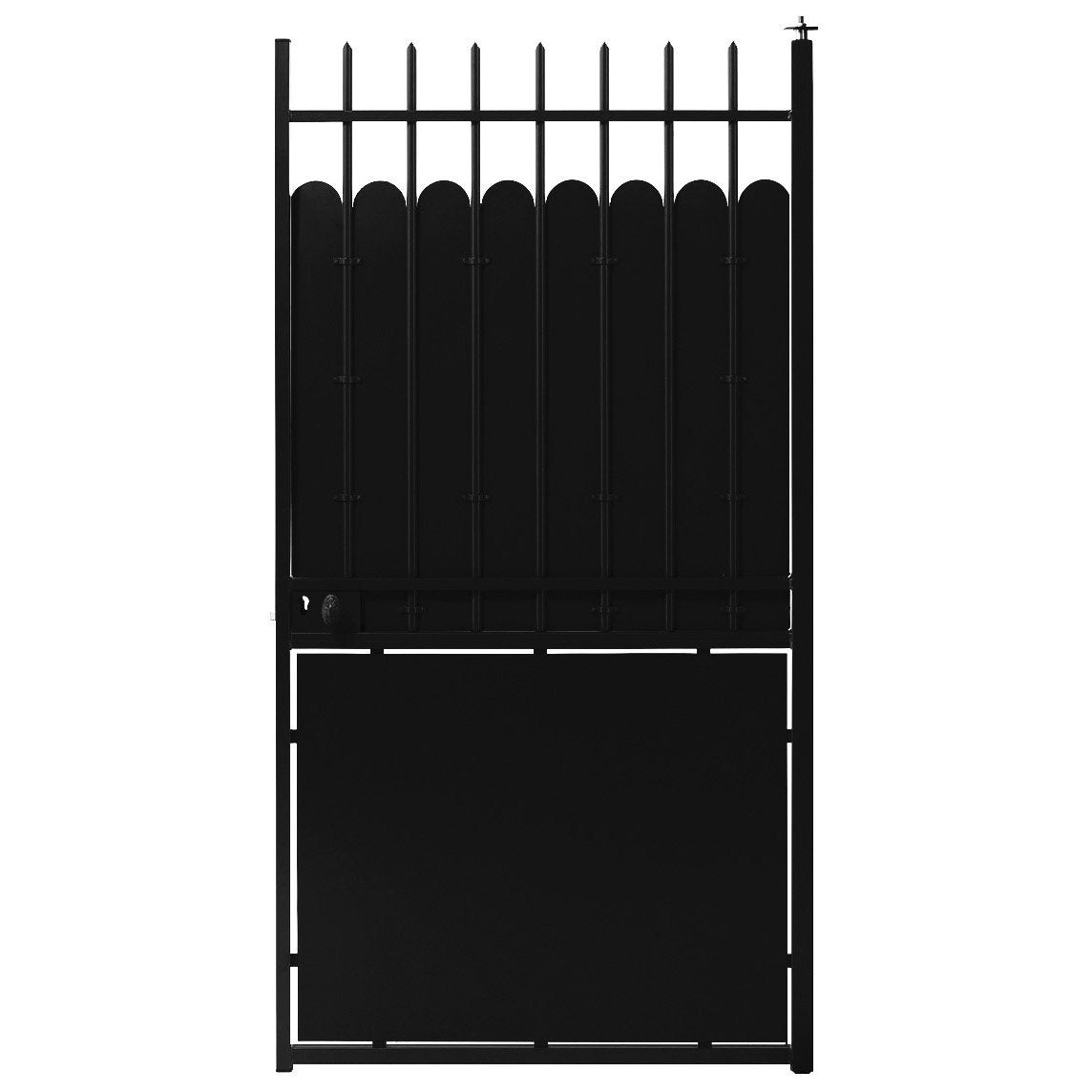 portillon battant hauteclaire x cm noir. Black Bedroom Furniture Sets. Home Design Ideas