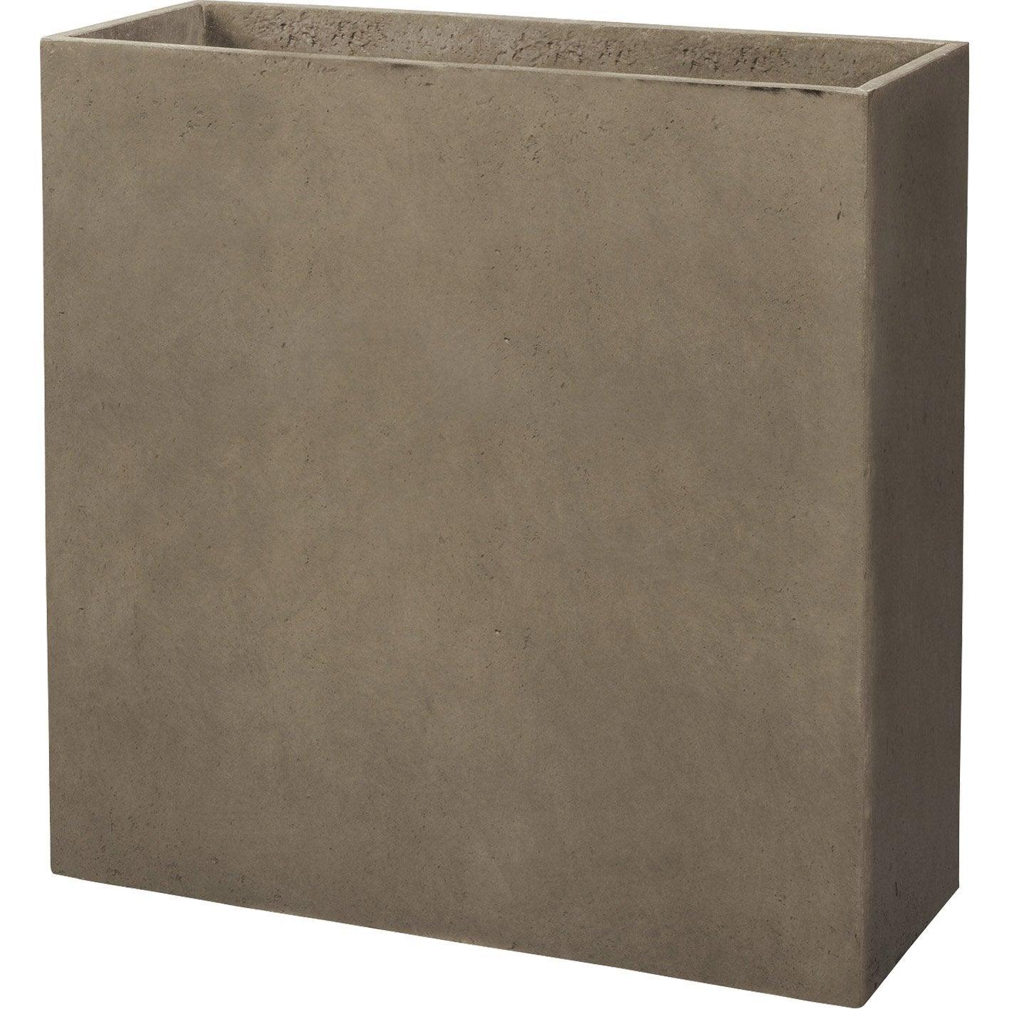 muret fibre deroma x x cm taupe leroy merlin. Black Bedroom Furniture Sets. Home Design Ideas
