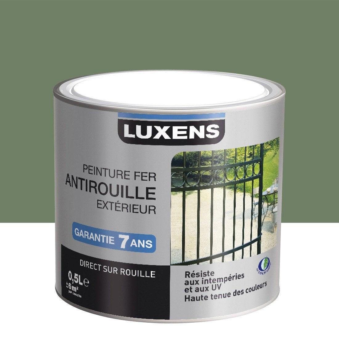 peinture fer ext rieur antirouille luxens vert olivier 0. Black Bedroom Furniture Sets. Home Design Ideas