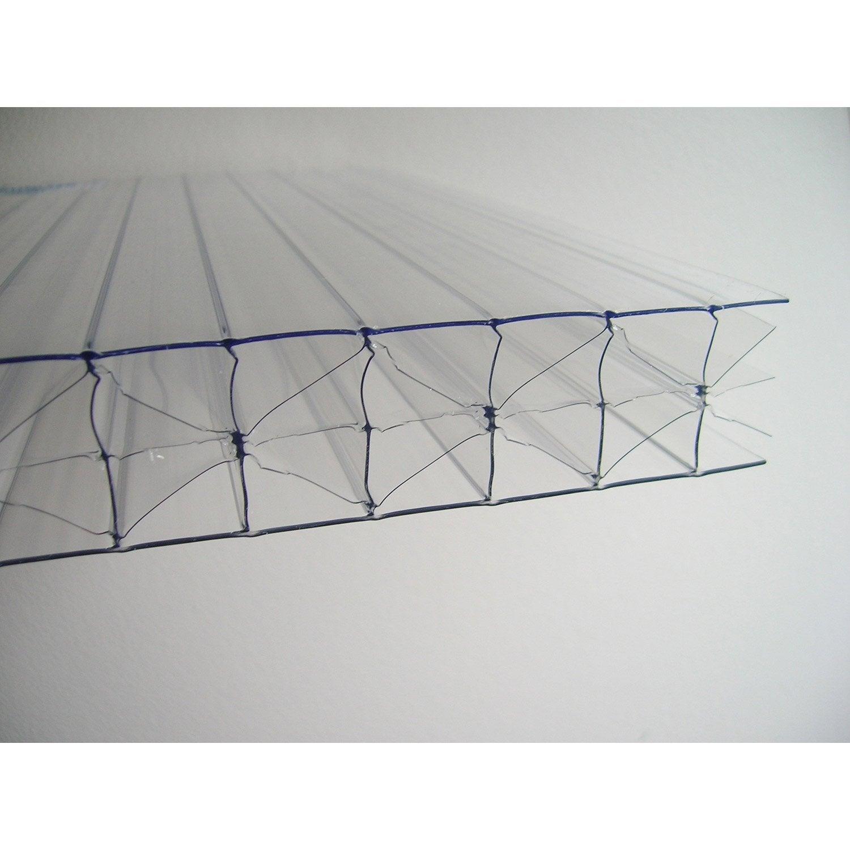 plaque polycarbonate alv olaire 32mm clair 3 x. Black Bedroom Furniture Sets. Home Design Ideas