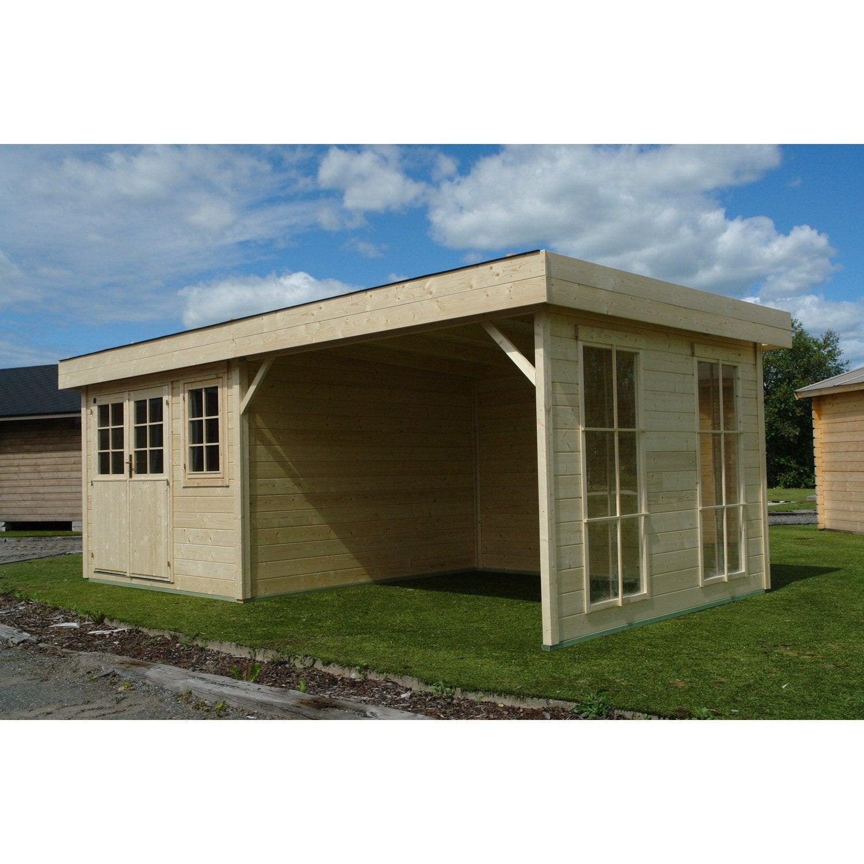 abri bois lounge m mm leroy merlin. Black Bedroom Furniture Sets. Home Design Ideas