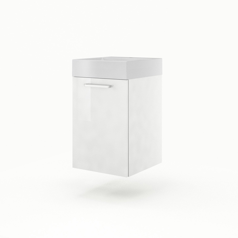 Meuble sous vasque x x cm blanc - Leroy merlin meuble sous vasque ...