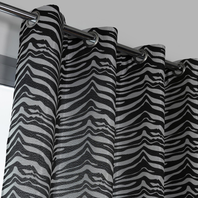rideau tamisant z bre noir et blanc x cm leroy merlin. Black Bedroom Furniture Sets. Home Design Ideas