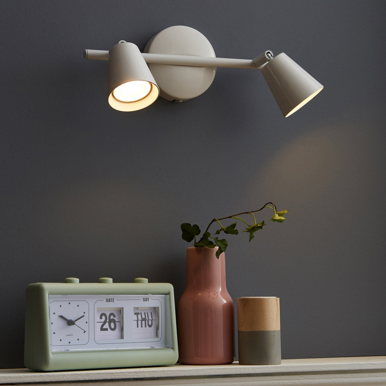 rampe 2 spots design chapo 2 xled int gr e blanc inspire leroy merlin. Black Bedroom Furniture Sets. Home Design Ideas