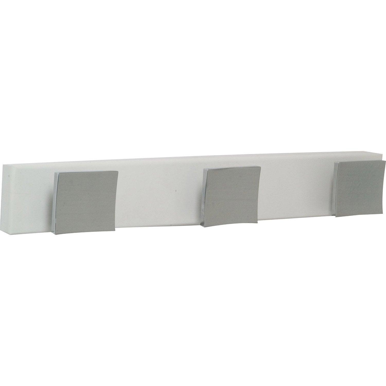 porte manteau visser 3 t tes s rie quadra leroy merlin. Black Bedroom Furniture Sets. Home Design Ideas