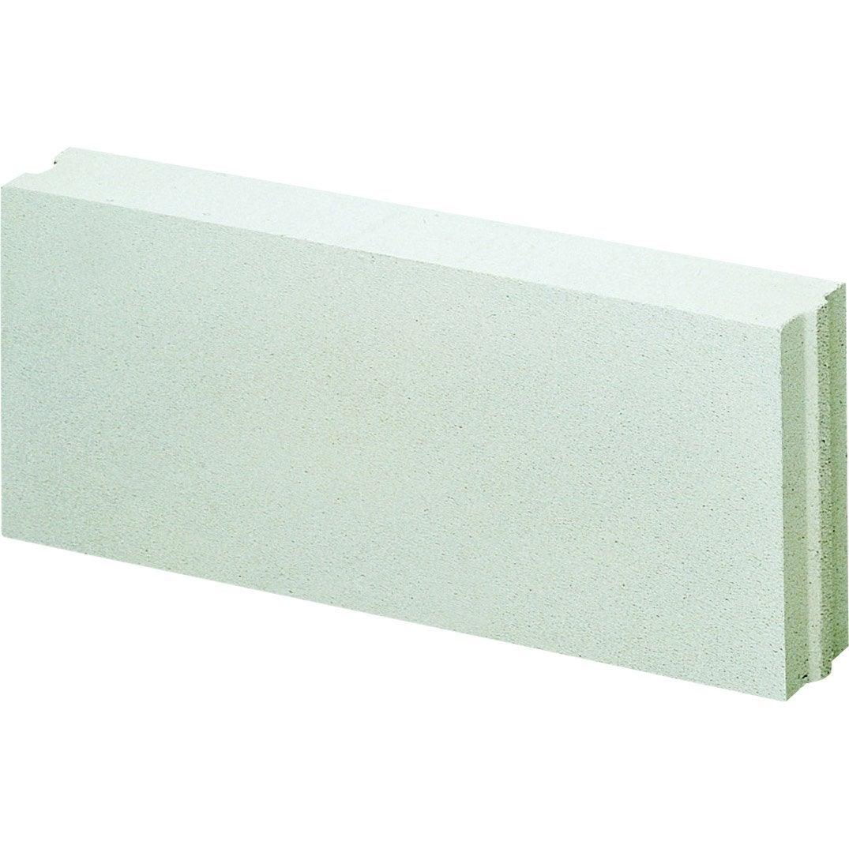 Carreau de b ton cellulaire axton 60 x 25 x 10 cm leroy for Table beton cellulaire