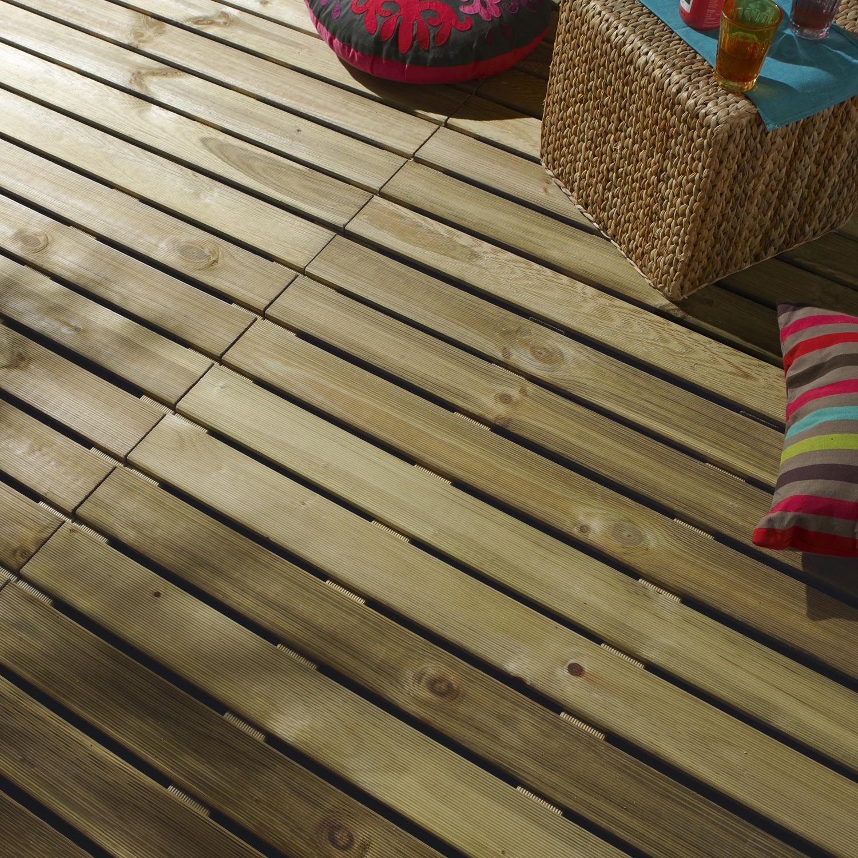 Dalle bois x cm x mm leroy merlin - Dalle en bois pour terrasse pas cher ...