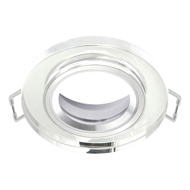 Anneau pour spot encastrer rende fixe sans ampoule inspire transparent le - Cloche spot encastrable ...
