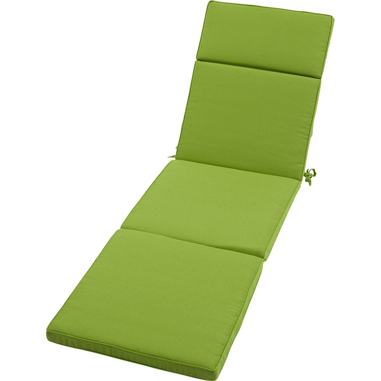 coussin de bain de soleil naterial laura uni vert leroy merlin. Black Bedroom Furniture Sets. Home Design Ideas