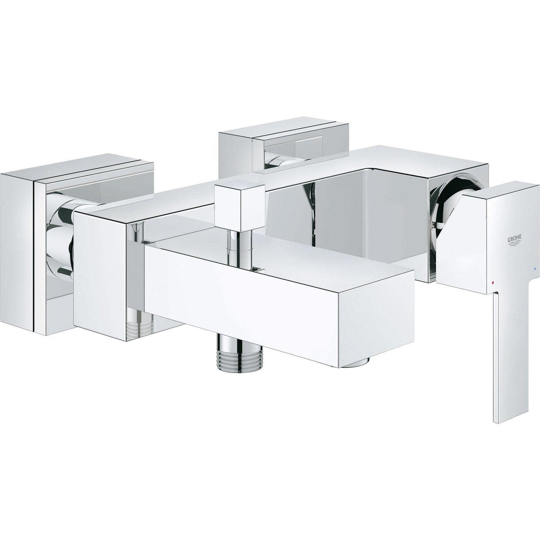 Mitigeur mécanique de baignoire, GROHE Sail cube | Leroy Merlin