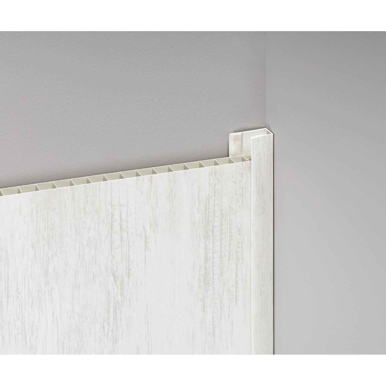 Profil de d part et finition pour lambris pvc 5 5 x 2 cm for Profil de finition pvc