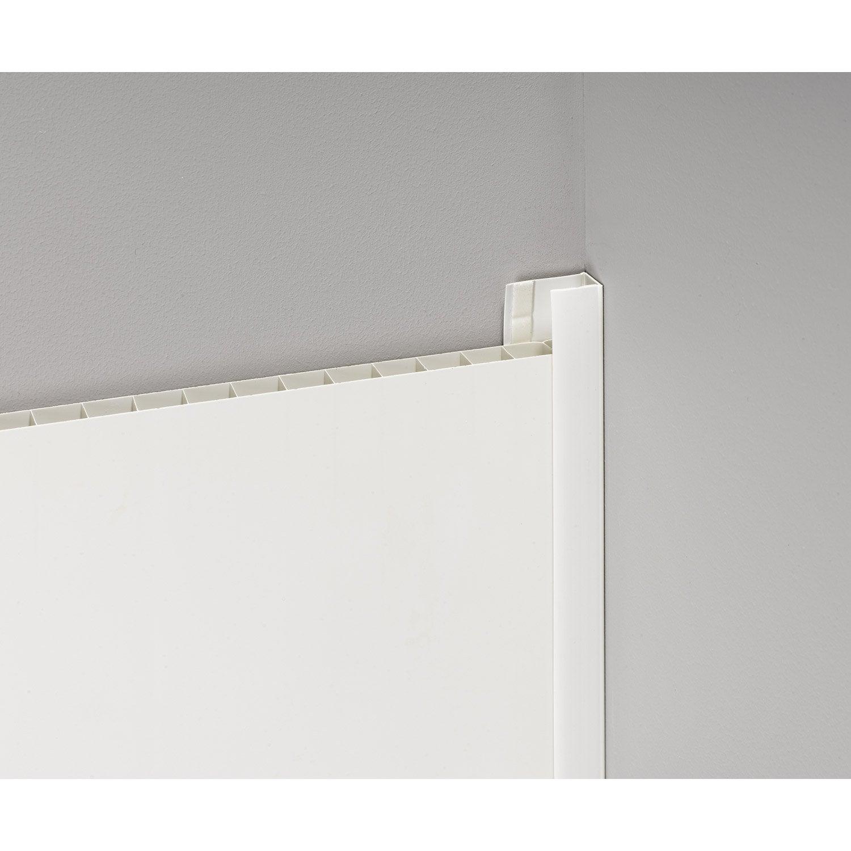 Profil de d part et finition pvc blanc satin 260x5 for Profil de finition pvc