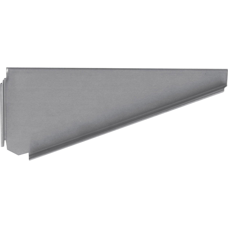 Talon droit embo table pour goutti re nantaise gris zinc leroy merlin - Leroy merlin gouttiere ...