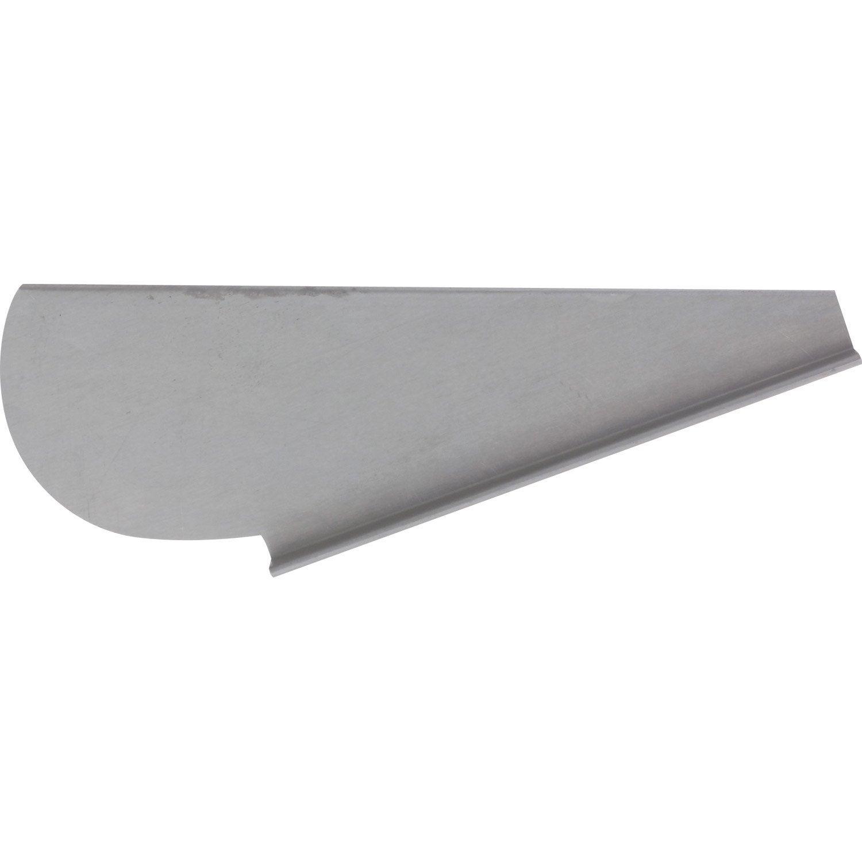 Talon droit pour goutti re havraise gris zinc leroy merlin - Gouttiere leroy merlin ...
