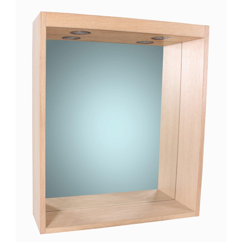 miroir avec clairage int gr l 60 cm sensea storm leroy merlin. Black Bedroom Furniture Sets. Home Design Ideas
