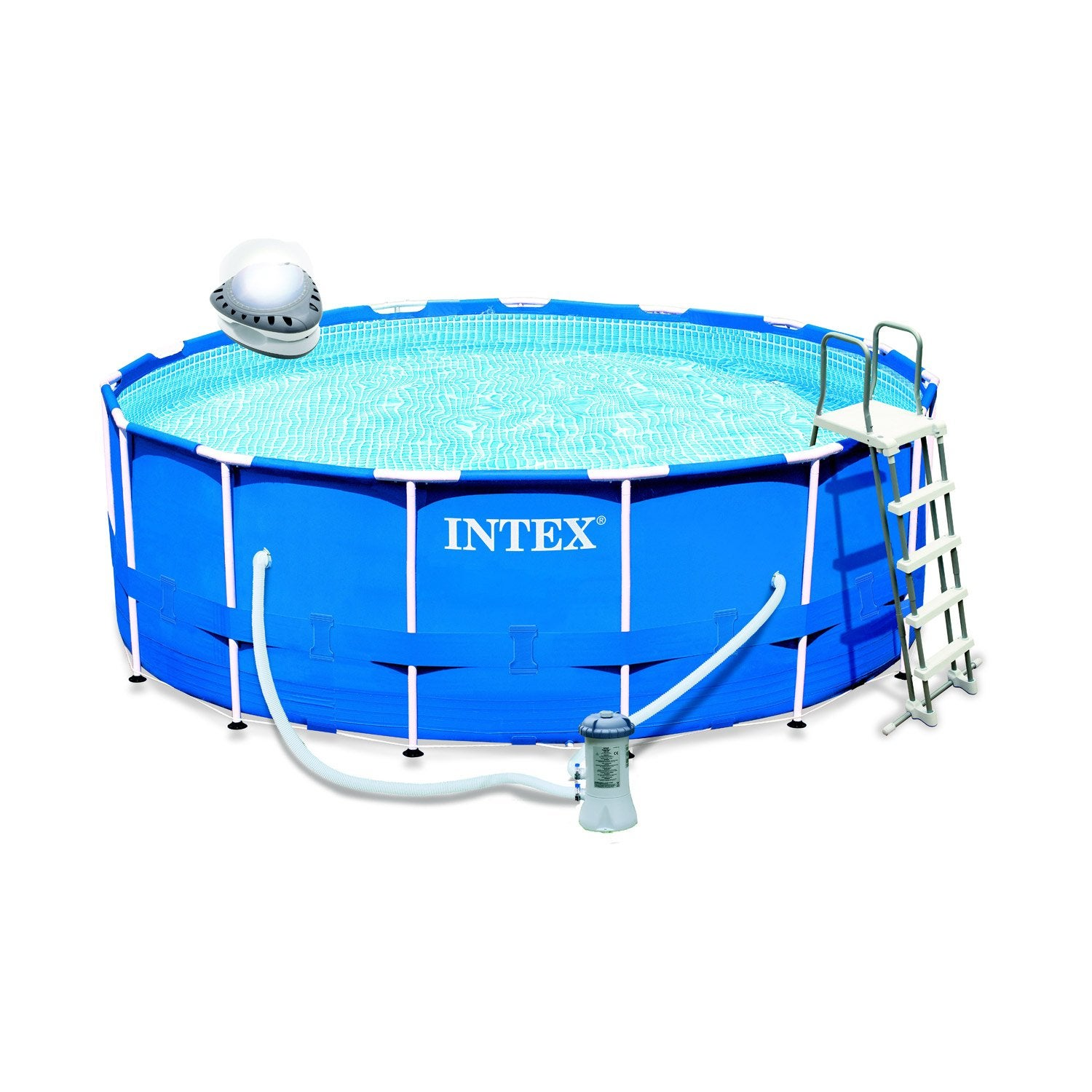 Piscine hors sol autoportante tubulaire ultra silver intex for Piscine hors sol 4 57x1 22 m