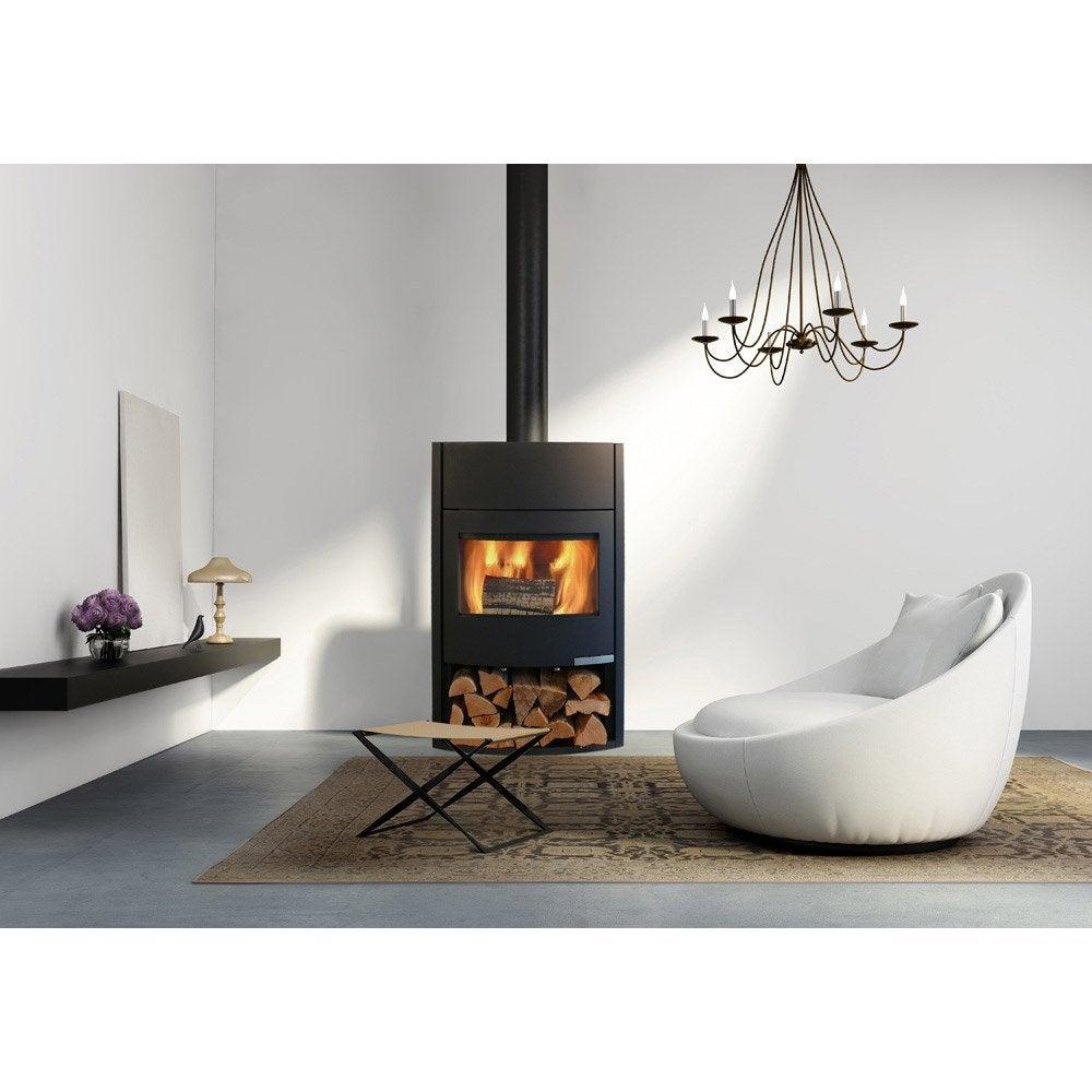 po le bois fonte flamme magma 8 kw leroy merlin. Black Bedroom Furniture Sets. Home Design Ideas