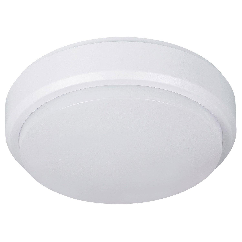 hublot led integree avec detecteur 1 x 8 w rond blanc With carrelage adhesif salle de bain avec hublot led avec détecteur