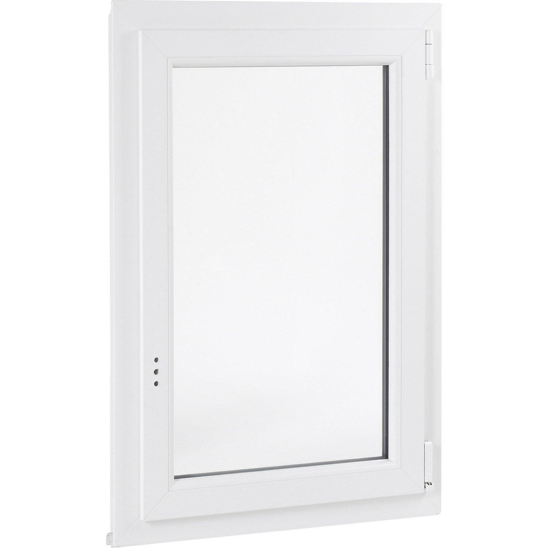 fenêtre pvc 1 vantail ouvrant à la française h.60 x l.60 cm ... - Fenetre Pvc Pour Salle De Bain