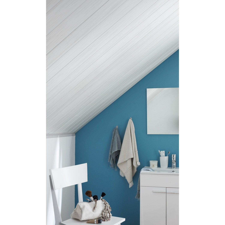 lambris pvc imitation bois lasur gris grosfillex 260x375 cm p 8 mm leroy merlin. Black Bedroom Furniture Sets. Home Design Ideas