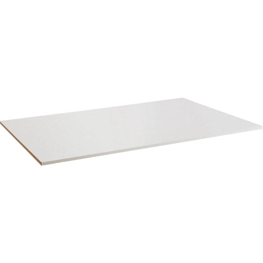 Plateau de table agglom r blanc x cm x for Plateau de table rond 120 cm
