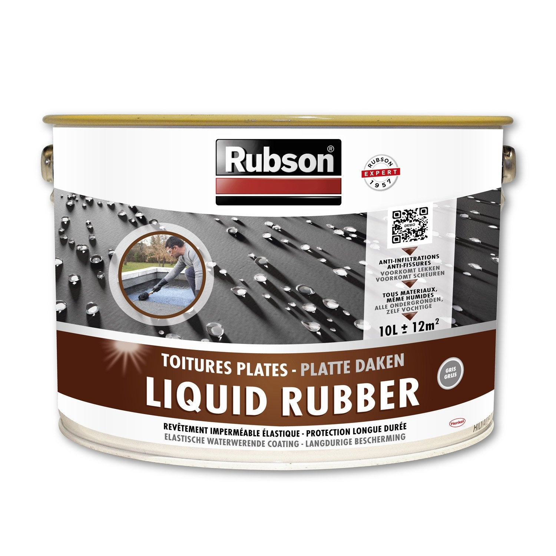 rev tement liquide stop fuite toiture plate rubson gris 10 l leroy merlin. Black Bedroom Furniture Sets. Home Design Ideas