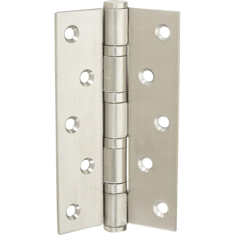 Charni re universelle en acier inoxydable pour meuble 125 x 75 mm leroy merlin - Leroy merlin charniere ...