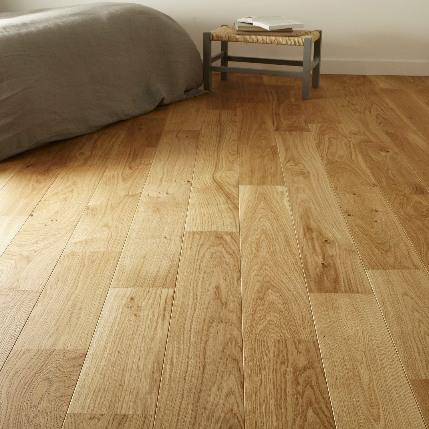 Parquet contrecoll ch ne blond vitrifi l broceliande for Prix pose carrelage imitation parquet