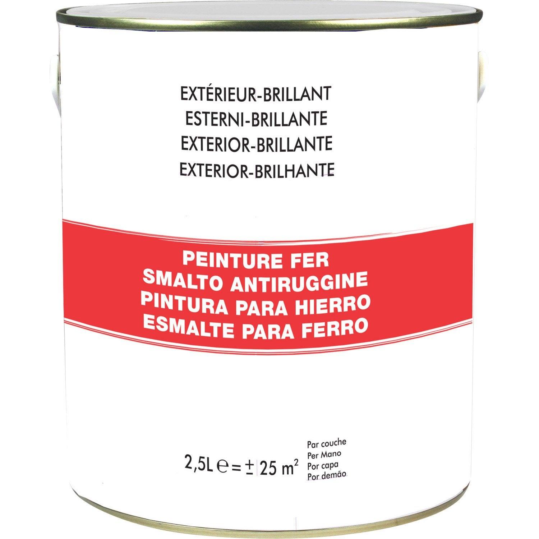 peinture fer ext rieur blanc blanc n 0 2 5 l leroy merlin. Black Bedroom Furniture Sets. Home Design Ideas