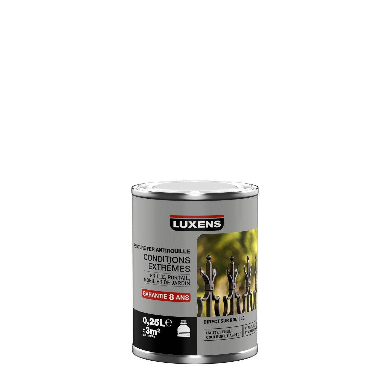 Peinture ferronnerie ext rieur antirouille luxens blanc blanc n 0 l leroy merlin - Peinture antirouille blanche ...
