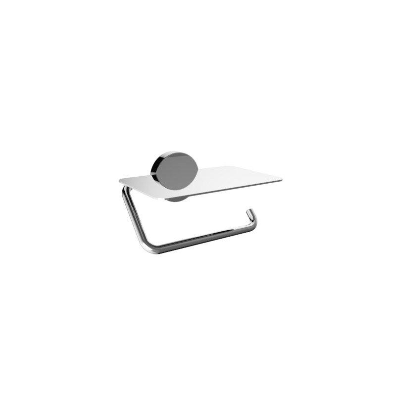 d rouleur papier toilette avec couvercle style chrom leroy merlin. Black Bedroom Furniture Sets. Home Design Ideas