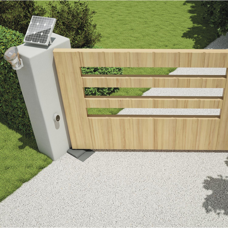 Motorisation de portail enterr e mhouse by nice wu200s for Portail en bois pour jardin