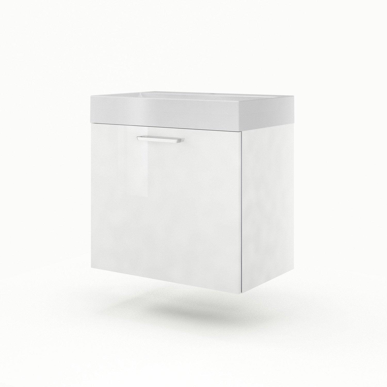 meuble sous vasque x x cm blanc sensea neo line leroy merlin. Black Bedroom Furniture Sets. Home Design Ideas