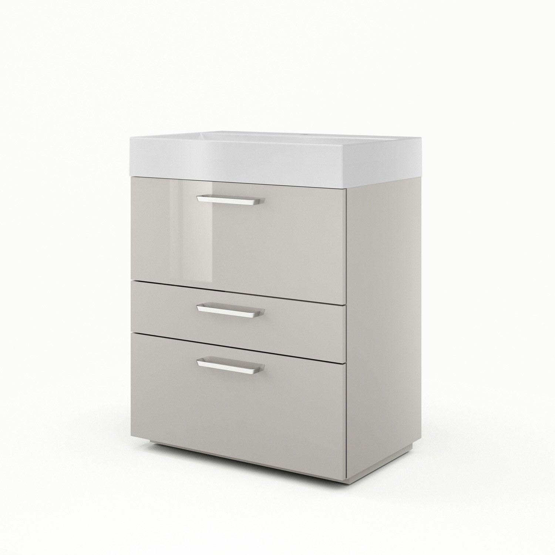meuble sous vasque x x cm taupe sensea neo line leroy merlin. Black Bedroom Furniture Sets. Home Design Ideas