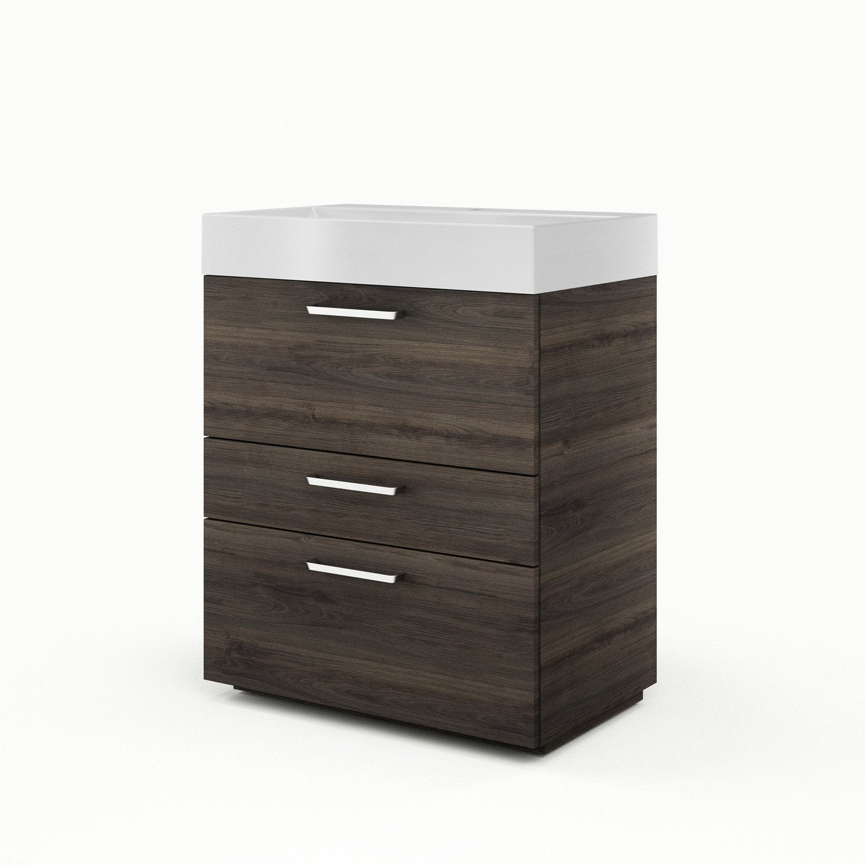 meuble vasque 75 cm neo line leroy merlin. Black Bedroom Furniture Sets. Home Design Ideas