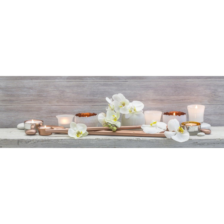 Toile led orchid es x cm leroy merlin - Leroy merlin tableau deco ...