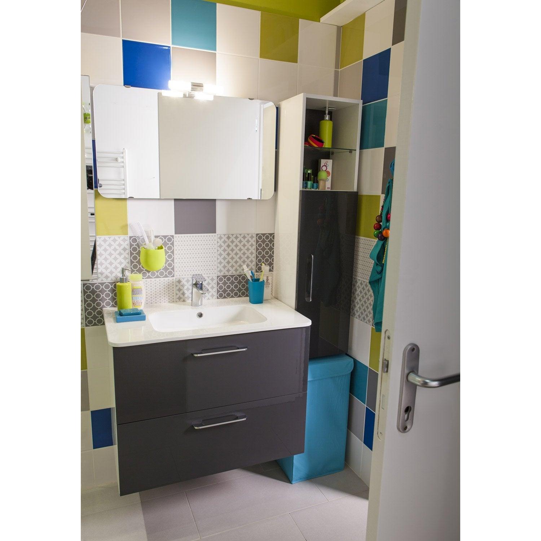 meuble sous vasque x x cm happy leroy merlin. Black Bedroom Furniture Sets. Home Design Ideas