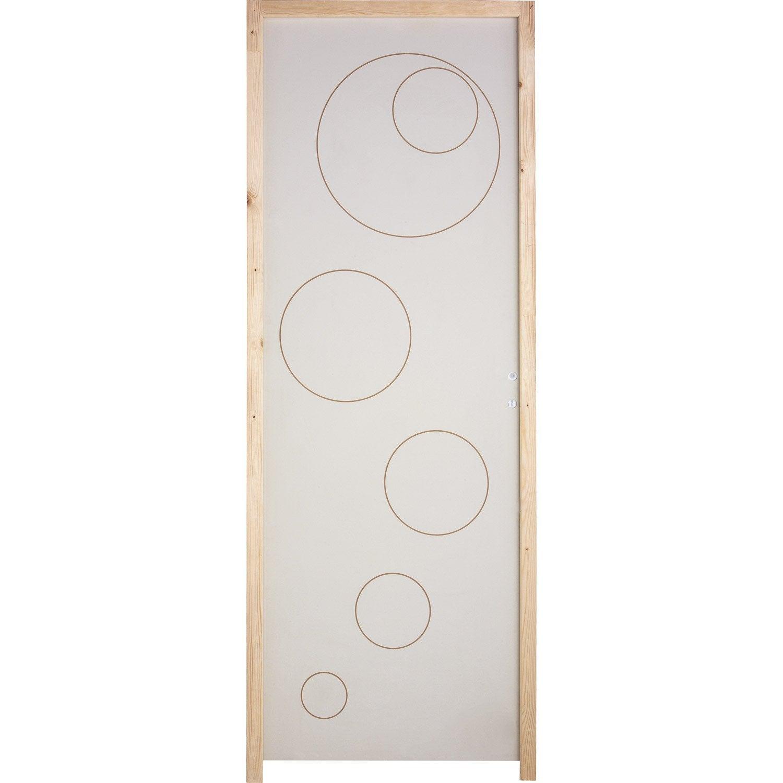 bloc porte isoplane pleine poussant droit 204 x 83. Black Bedroom Furniture Sets. Home Design Ideas
