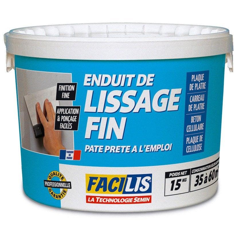 Enduit de lissage facilis 15 kg leroy merlin - Prix enduit de lissage ...