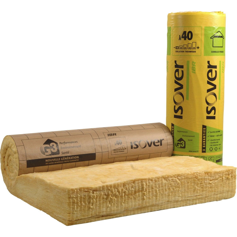 rouleau de laine de verre ibr 40 kraft isover r 5 leroy merlin. Black Bedroom Furniture Sets. Home Design Ideas