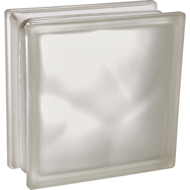 Brique de verre blanc lisse brillant leroy merlin - Brique de verre leroy merlin ...