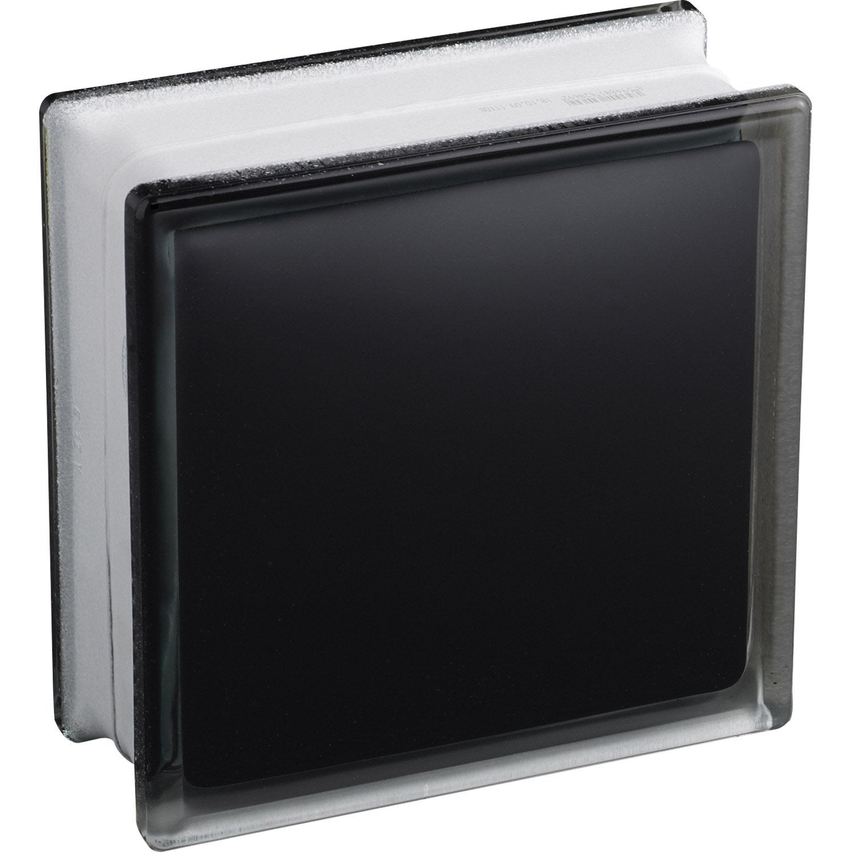 Brique de verre noir lisse brillant leroy merlin for Pave noir leroy merlin