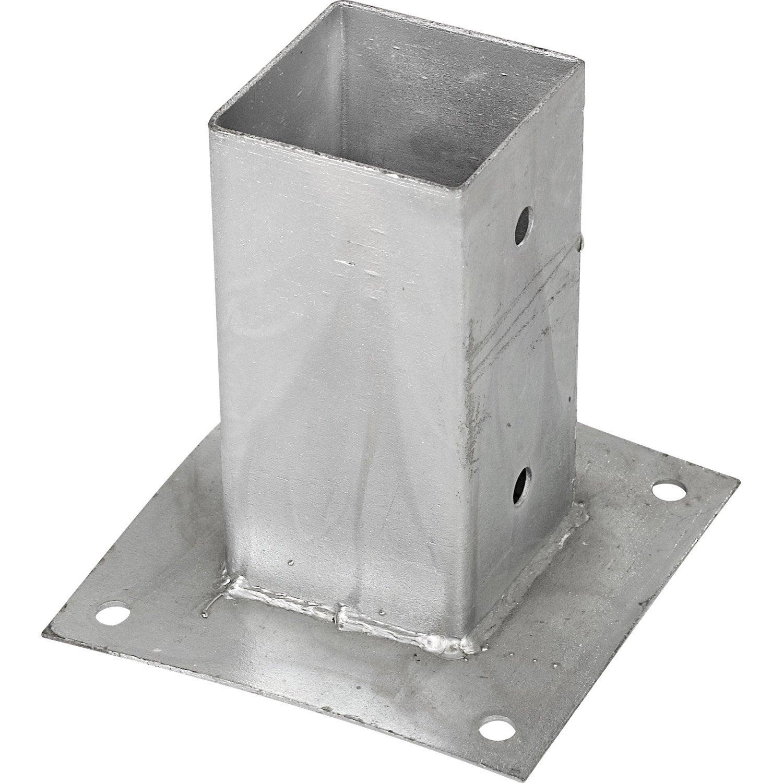 Poteau aluminium 100x1sur platine