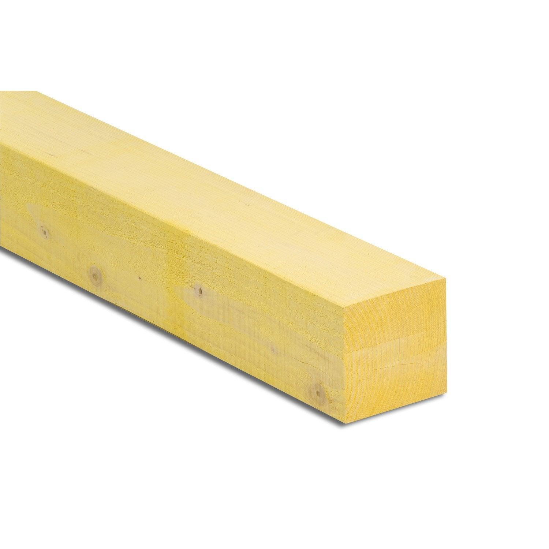 Poutre sapin pic a trait 150x150 mm 4 m chx1 leroy for Poutre i bois prix