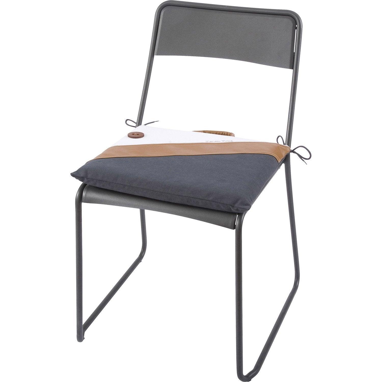 Coussin d 39 assise de chaise ou de fauteuil multicolore sellier jardin prive leroy merlin - Leroy merlin jardin prive limoges ...