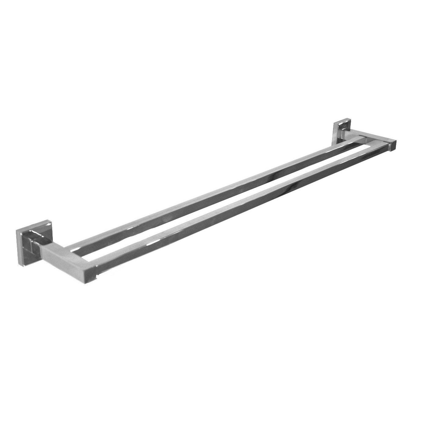 Porte serviettes 2 barres fixes quaddro chrom leroy merlin - Ensemble salle de bain leroy merlin ...