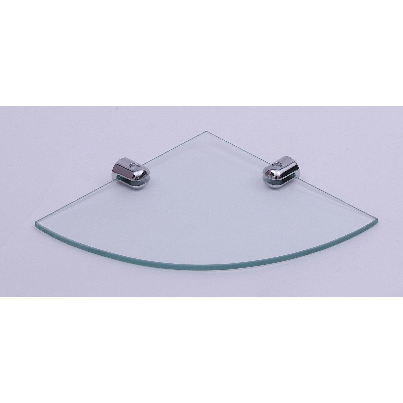 tablette verre d 39 angle h 2 x cm leroy merlin. Black Bedroom Furniture Sets. Home Design Ideas