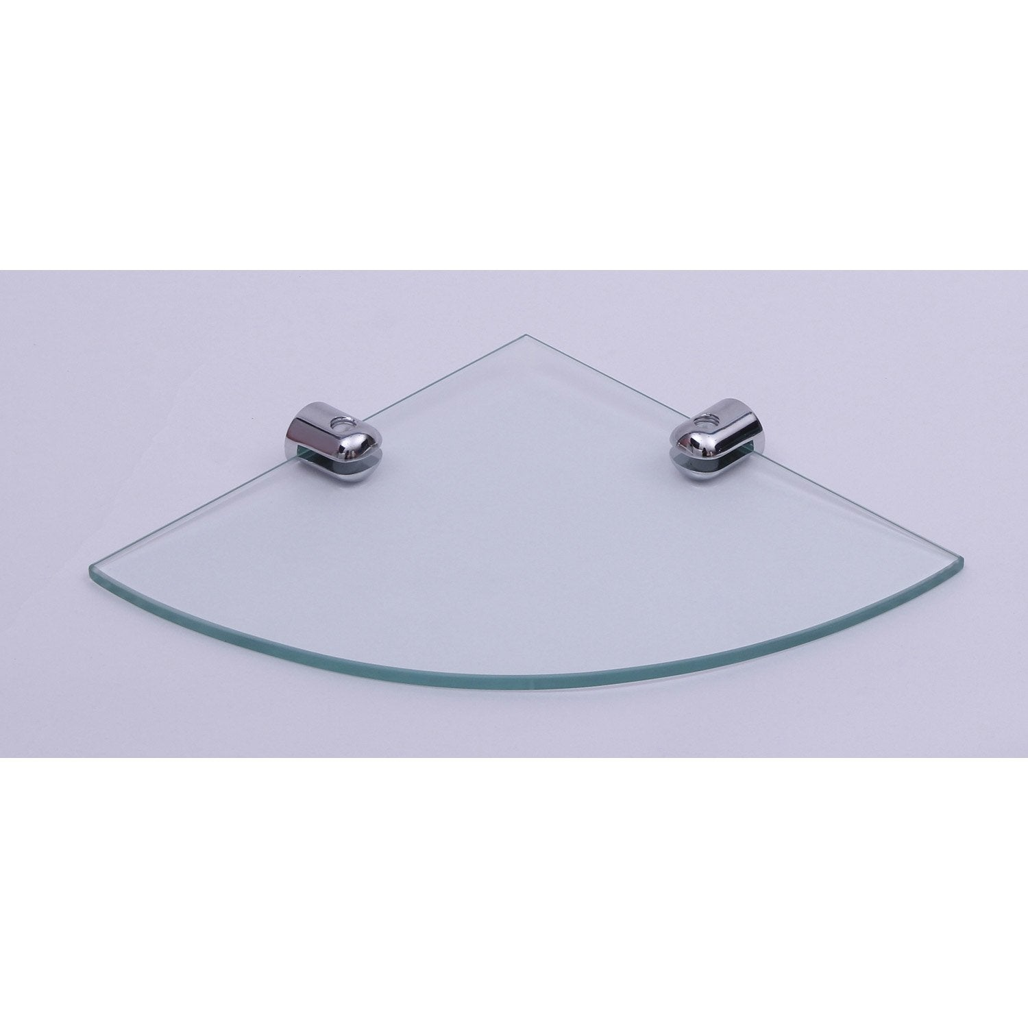 Tablette verre d 39 angle modul leroy merlin for Tablette salle de bain