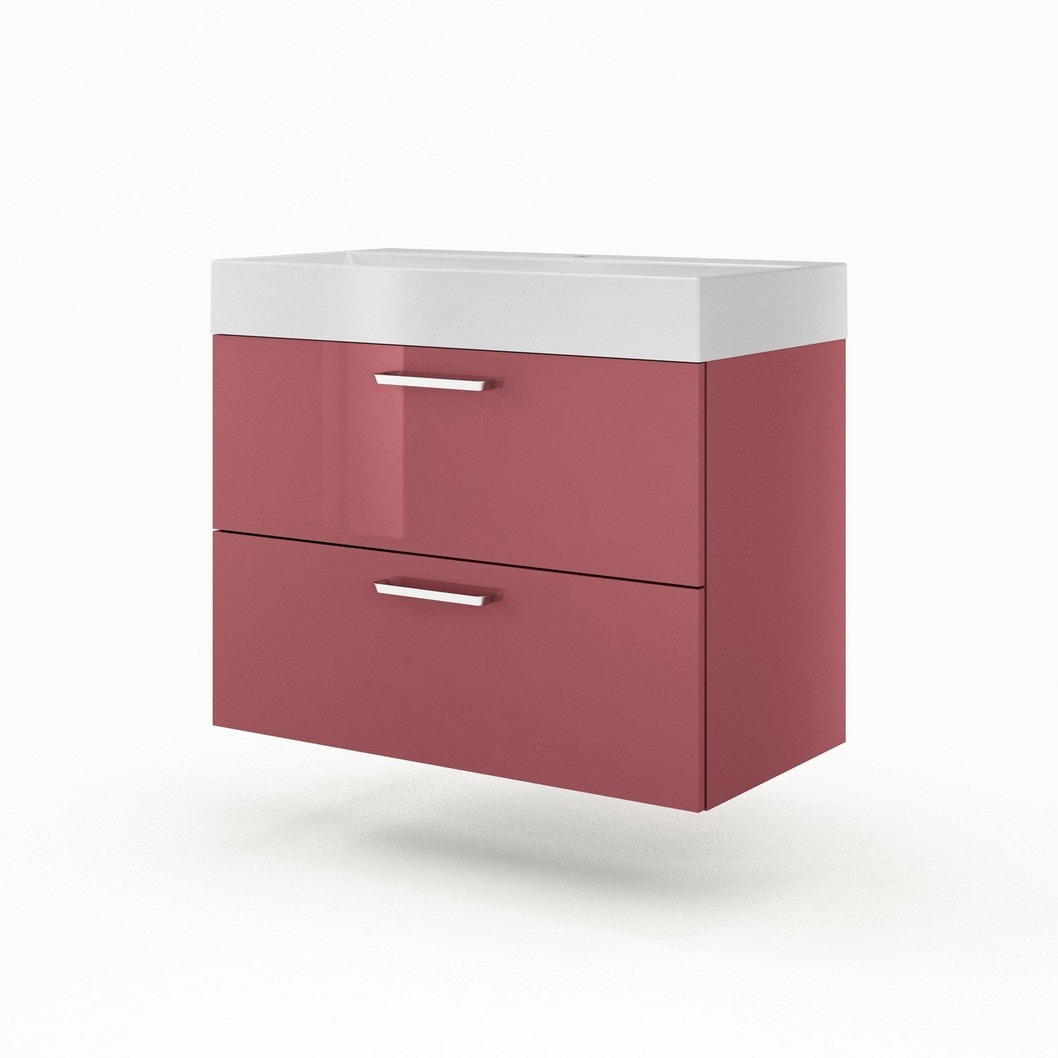 Meuble vasque 90 cm rouge neo line leroy merlin for Meuble 90 cm